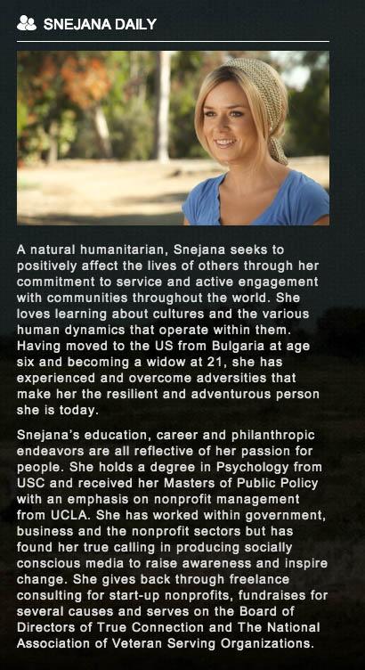 Snejana's OWN bio