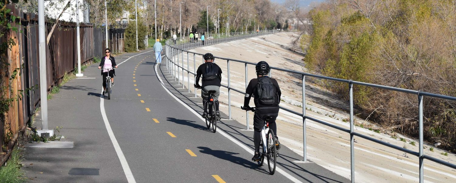 Bicycle paths are just one of the many recreational opportunities along the L.A. River. Photo by Andrew Pasillas