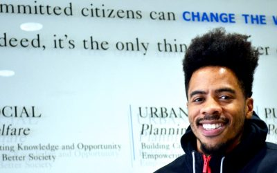 """Actor Scott St. Patrick brings his """"Minority Report"""" to UCLA on Nov. 1. Photo by Stan Paul"""