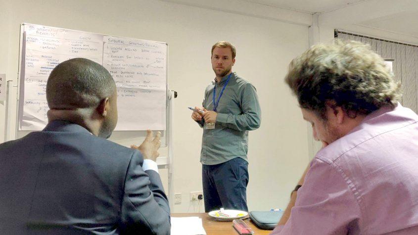 UCLA Luskin Assistant Professor Darin Christensen at a PRG workshop in Accra, Ghana.