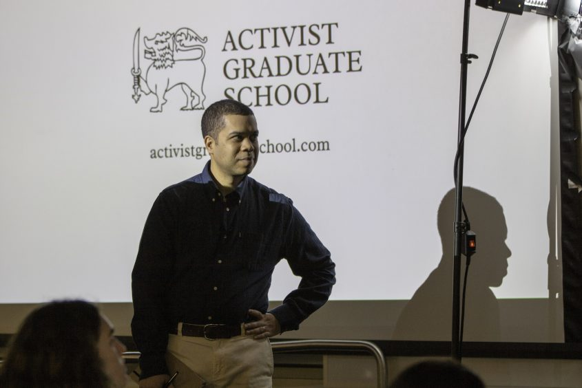 Micah White, founder of the Activist Graduate School, launches the course on housing justice and activism at UCLA Luskin.