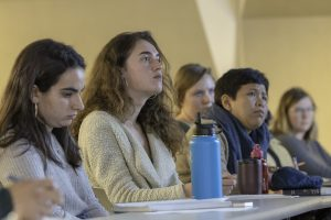Graduate students from across UCLA filled the housing justice class to capacity. Photo by Mary Braswell