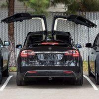 Image of black Tesla car