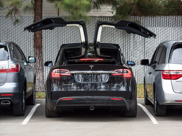Image of black Tesla car