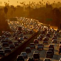 Image of traffic on the 101 freeway in Los Angeles