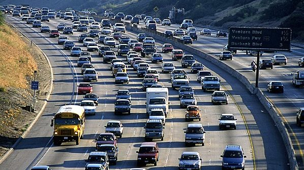 image of traffic in Southern California