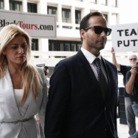 image of George Papadopoulos and wife Simona Mangiante at Papadopoulos 2018 sentencing hearing