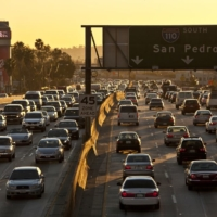 image of traffic on the south 110